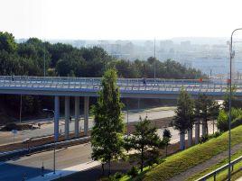 Viaduko Ozo gatvėje Vilniuje statyba