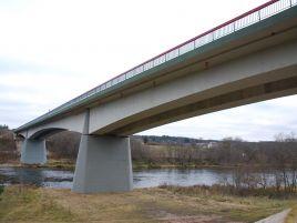 Gelžbetoninio tilto per Nerį Nemenčinėje statyba