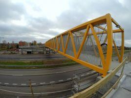 Pėsčiųjų viaduko statyba ties Nemėžiu