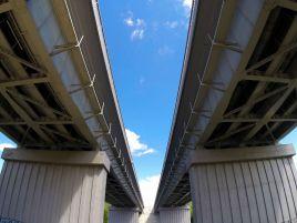 Gariūnų tilto Vilniuje statyba
