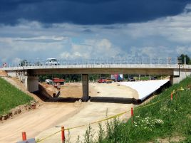 Construction of nothern connector viaduct of western bypass