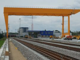 Kaunas intermodal terminal runway installation