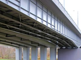 Reconstruction of the Lazdynai bridge in Vilnius