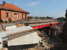 Geležinkelio viaduko Armino g. Marijampolėje statyba
