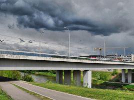 Construction of the Šilo street bridge in Vilnius