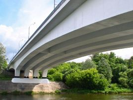 Reconstruction of the Valakampiai bridge in Vilnius