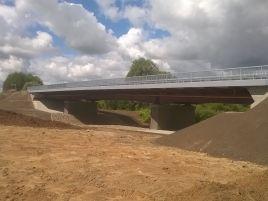 Tilto per Šešupę Pilviškiuose statyba