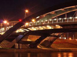 Construction of Mindaugas bridge in Vilnius