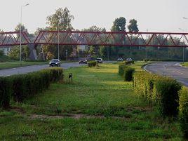 Construction of pedestrian viaduct in Vilnius, Mokyklos street