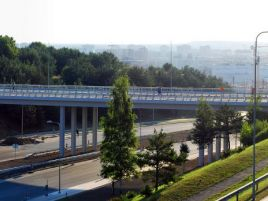 Construction of viaduct over Ozo street in Vilnius