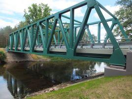 Construction of bridge over the river Žeimena